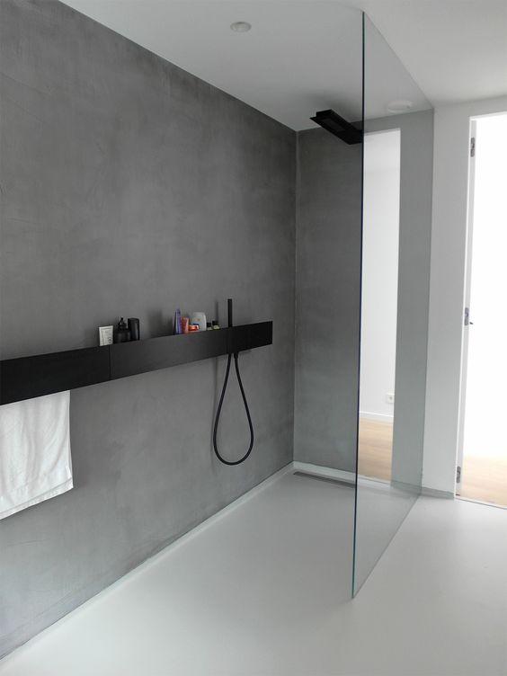 gieten vloer in badkamer