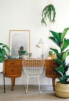 inspirerende werkplek vintage botanisch