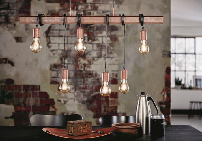 hanglamp metalen balk